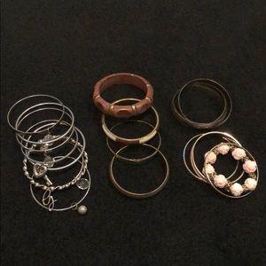 Bangle bundle. 4 sets of bangles! 18 bracelets